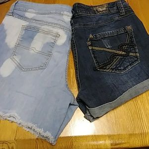 2 pair of size 11 jean shorts